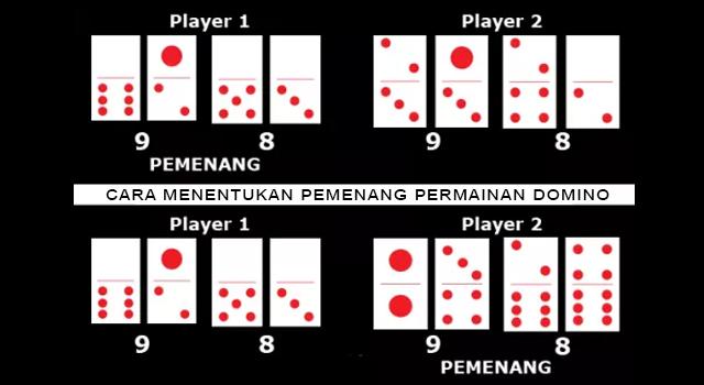 cara menentukan pemenang permainan domino